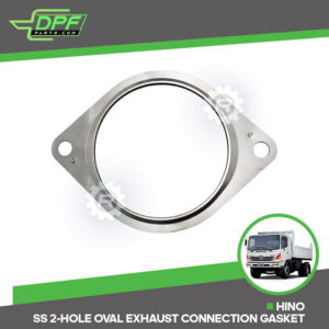 Hino SS 2-Hole Oval Exhaust Connection Gasket (RED G01301 / OEM 17173-E0090)